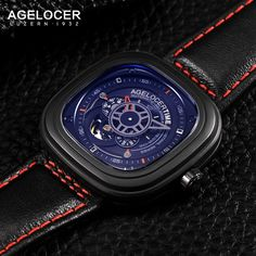 Agelocer Big Bang Model 5004J1 Black Coolor  Sale Price:580$ + FREE SHIPPING To Europe and North America.