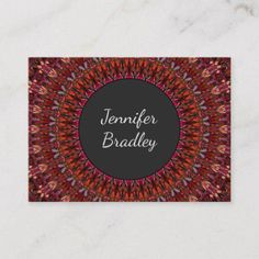 Shop Dark Flower Garden Mandala Business Card created by ZyddArt. Beauty Business Cards, Elegant Business Cards, Business Card Design, Print Templates, Card Templates, Dark Flowers, Bohemian Design, Mandala, Garden