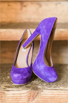 purple wedding shoes | purple wedding ideas | diy wedding | 6 month engagement | #weddingchicks
