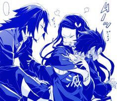 竈門炭治郎 竈門禰豆子 冨岡義勇 Manga Anime, Anime Demon, Anime Art, Deadman Wonderland, Gekkan Shoujo, Naruto Sasuke Sakura, Demon Hunter, My Demons, Dragon Slayer