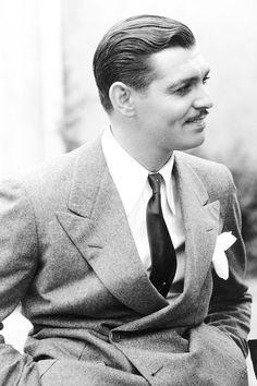 "msmildred:  Clark Gable during the filming of ""Manhattan Melodrama"", 1934.  Great movie, great cast, great wardrobe."