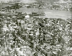 1928 aerial view of the harbor