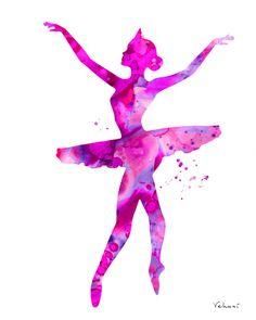 Pink ballerina 2 ballerina print ballerina by FluidDiamondArt