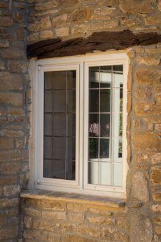 Steel W30 windows with applied leads.