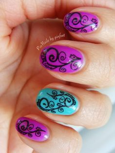 Stamping cheeky in gelish by Pinnails