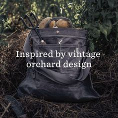 Meet Your Essential Foraging Partner! The Barebones Best Selling Bag Is Back In Stock & Better Than Ever. ✔️ Vintage-inspired orchard design ✔️ Multi-way straps for easy handling ✔️ Water-friendly and non-absorbent ✔️ Bottom drop-out for easy unloading ✔️ Removable watertight liner ✔️ TONS of 5 Star Reviews Garden Tool Storage, Garden Tools, Orchard Design, Lettuce Seeds, Plant Markers, Hobby Farms, Green Garden, Garden Accessories, Herbalism