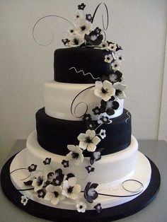 Welcome for you to our website, on this time period I'm going to demonstrate about Wedding Cakes Black And White. 30 black and white wedding cakes ideas. black and white wedding cakes are never . Pretty Cakes, Cute Cakes, Beautiful Cakes, Amazing Cakes, Beautiful Wedding Cakes, Beautiful Cake Designs, Sweet Cakes, Black And White Wedding Theme, White Wedding Cakes