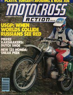 Jaroslav Falta on the cover of Motocross Action Magazine 1978