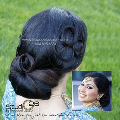 Pinky's Reception Low Bun Hairstyle.