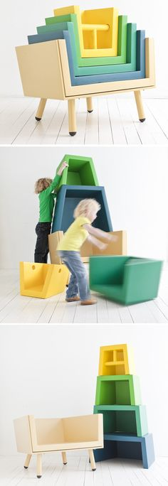 It's a stacking cube, a chair, or toy storage!
