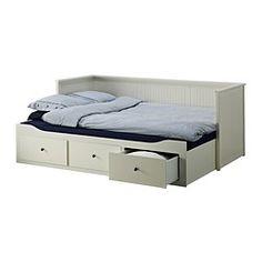 HEMNES Sohvasänky, 3 laatikkoa/2 patjaa, harmaa, Malfors kiinteä - 80x200 cm - harmaa/Malfors kiinteä - IKEA