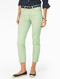 Talbots - Slimming Curvy Colored Crop Jeans | Jeans | Misses