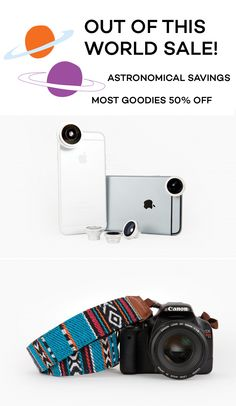 Photojojo has all new goodies on sale this week, and the savings are out of this world! Get the camera gear and phoneography goodies you've had your eye on.