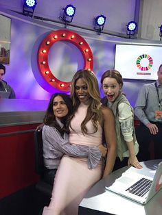 Salma Hayek Pinault, Laverne Cox, and Rachel Brosnahan at the 2015 #GlobalCitizenFestival