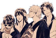 Gintama | Katsura, Shinsuke, Gintoki, and Tatsuma