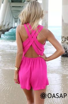 Fabulous Plunging Neckline Crossover Rompers - OASAP.com