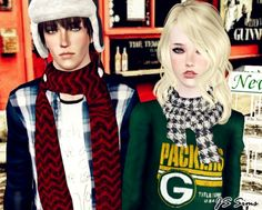 Scarf Set at JS Sims 3 - Sims 3 Finds