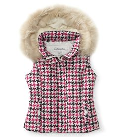 Houndstooth Puffer Vest - Aeropostale  http://www.aeropostale.com/product/index.jsp?productId=13053441=3534618.3534619.3534623.3541050.2038750#