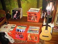 vinyl and guitar