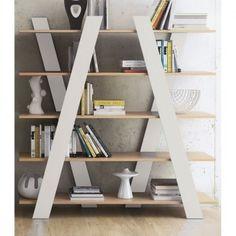 Wandkast Tundo Davi eiken | boekenkast | wit | hout | scandinavisch design | kast