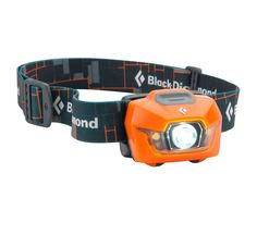 The new Storm headlamp by Black Diamond gives out an incredibly bright 100 lumens, over 70 meters, with a battery life of 200 hours. 1 triple power LED spotlight, 2 white LEDs for general use and 2 red single power LEDs for night vision. Plus it's waterproof down to 1 meter for a 1/2 hour so it'll handle any weather you throw at it. And all this packs into a small, lightweight, front housing so that it's comfortable to wear any time, even laying down after a hard day's climb. Runs on 4 AAA…