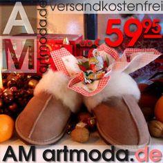 Das perfekte #Weihnachtsgeschenk: Zu meinem #Weihnachten - #Kaffee mag ich meine #Lammfell #Puschen in milk & coffee!