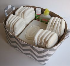Storage Organziation Diaper Caddy  with Separators / by BaffinBags, $52.00