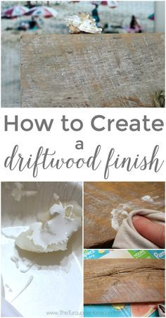 This DIY Driftwood Finish is so easy to create with cece caldwell's paints products from Vintage Bette.