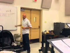 """Maraca Playing Made Easy"" clinic at EKU, Dr. Brad Meyer"