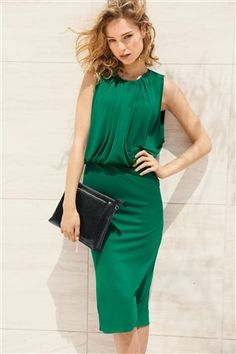 Buy Green Midi Dress from the Next UK online shop