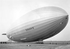 The Hindenburg dirigible attempting to land at Lakehurst, N.J. May 9, 1936, a year before the disaster