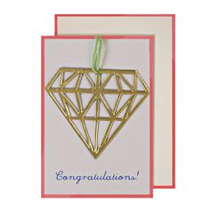 Diamond Congratulations Gift Enclosure Card