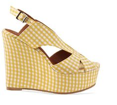 yellow gingham wedges