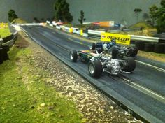 Vintage Monogram slot cars | Vintage Grand Prix down the first straight