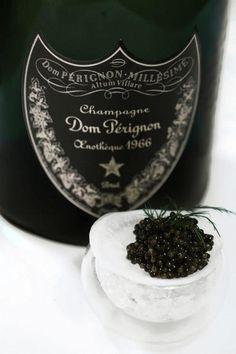 Dom Pérignon OEnothèque 1966 paired with caviar
