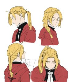 """""""FMA au where everything is the same, except Ed's hair is braided differently every day. Manga Anime, Comic Manga, Me Anime, Fanarts Anime, Anime Characters, Anime Art, Full Metal Alchemist, Der Alchemist, Fullmetal Alchemist Brotherhood"""
