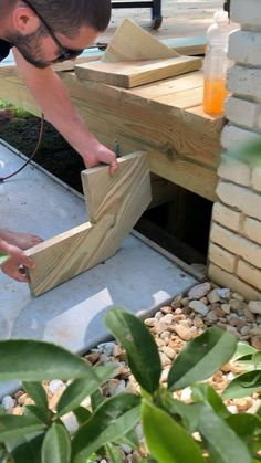 Diy House Projects, Backyard Projects, Diy Wood Projects, Diy Crafts For Home Decor, Diy Home Repair, Backyard Makeover, Woodworking Projects Diy, Diy Home Improvement, Facade