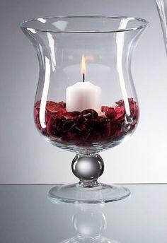 hurricane vase centerpiece, hurricane centerpiece, hurricane wedding centerpiece