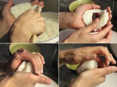 how to make onigiri (rice balls)  - great for packed lunches!