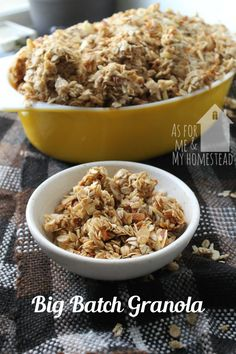 Big batch granola is