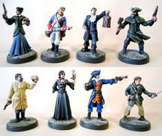 $15.00  A Touch of Evil Heroes Set ~ 28mm