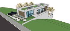 ABRIL 2011. Casa moderna em terreno em declive. Com garagem e pátio lateral no nível da rua, o conceito nasceu em torno da idéia de se ...