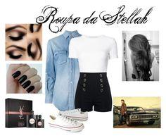 """Dean"" by kjchbhdc on Polyvore featuring moda, Yves Saint Laurent, Rosetta Getty e Converse"