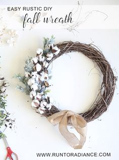20 Stunningly Beautiful DIY Fall Wreaths 2019 This easy DIY Fall wreath from www.runtoradiance is so cute and can be put together in under an hour. The post 20 Stunningly Beautiful DIY Fall Wreaths 2019 appeared first on Cotton Diy. Diy Fall Wreath, Fall Diy, Fall Wreaths, Christmas Wreaths, Wreath Ideas, Rustic Wreaths, Wreath Crafts, Door Wreaths, Farmhouse Fall Wreath