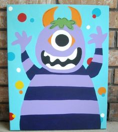 Image detail for -Alex Moody Monsters Bathroom Collection - Matching Canvas (16x20)