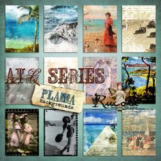 Deviant Scrap :: What's New :: ATC Series - Playa Backgrounds
