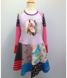 LOVE DressMe. Just bought Boo this new one for this year.....one of a kind upcycled t-shirt twirl horse dress.