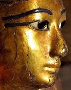 ♔ Mummy shaped coffin of Kha detail ~ Egyptian Museum ~ Turin