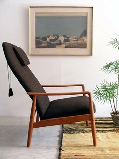 Søren Ladefoged; Teak RecliningLounge Chair for SL Møbler, c1960