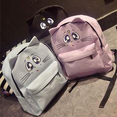 fbc6d6b3ae0e Details about Sailor Moon Luna Cat Canvas Anime School Student Girl Cute Bag  Packpack Bookbag